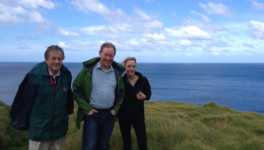 Happier times with Nick Smith the Minister of Conservation and Member of Auckland Central Nikki Kaye on Rakitu Island, September 2013.