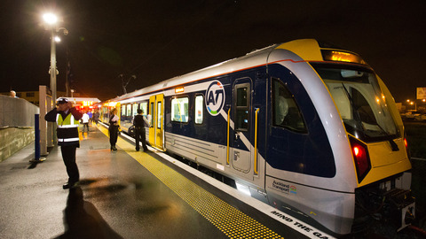 One of Auckland's new EMUs - but according to NZTA  & AT you won't be catching one of these to Auckland airport - not now - not ever.