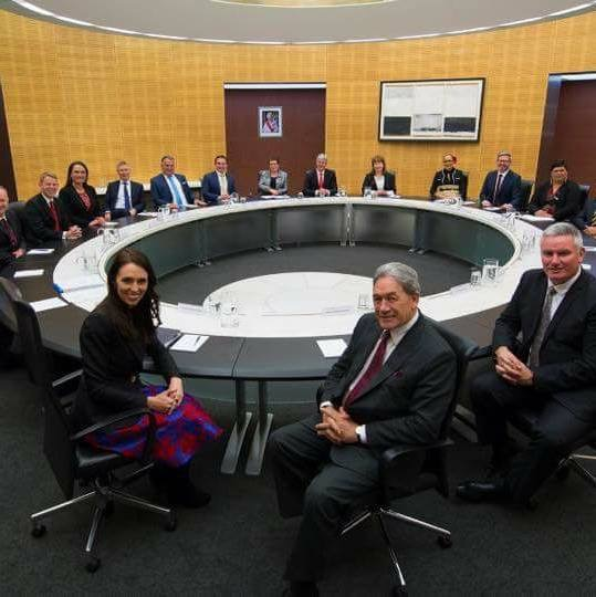 The Labour-NZ First coalition Government 2017- New Zealand's brand new start.