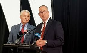 The two Phils Goff and Twyford. The  two politicians who have been overseeing the City Rail Link